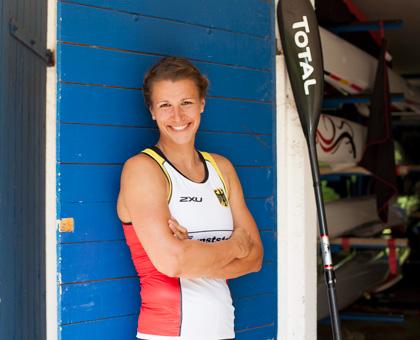Olympiasiegerin Franziska Weber (Kanu)